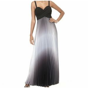 Betsy & Adam by Linda Bernell Pleated Ombre Gown